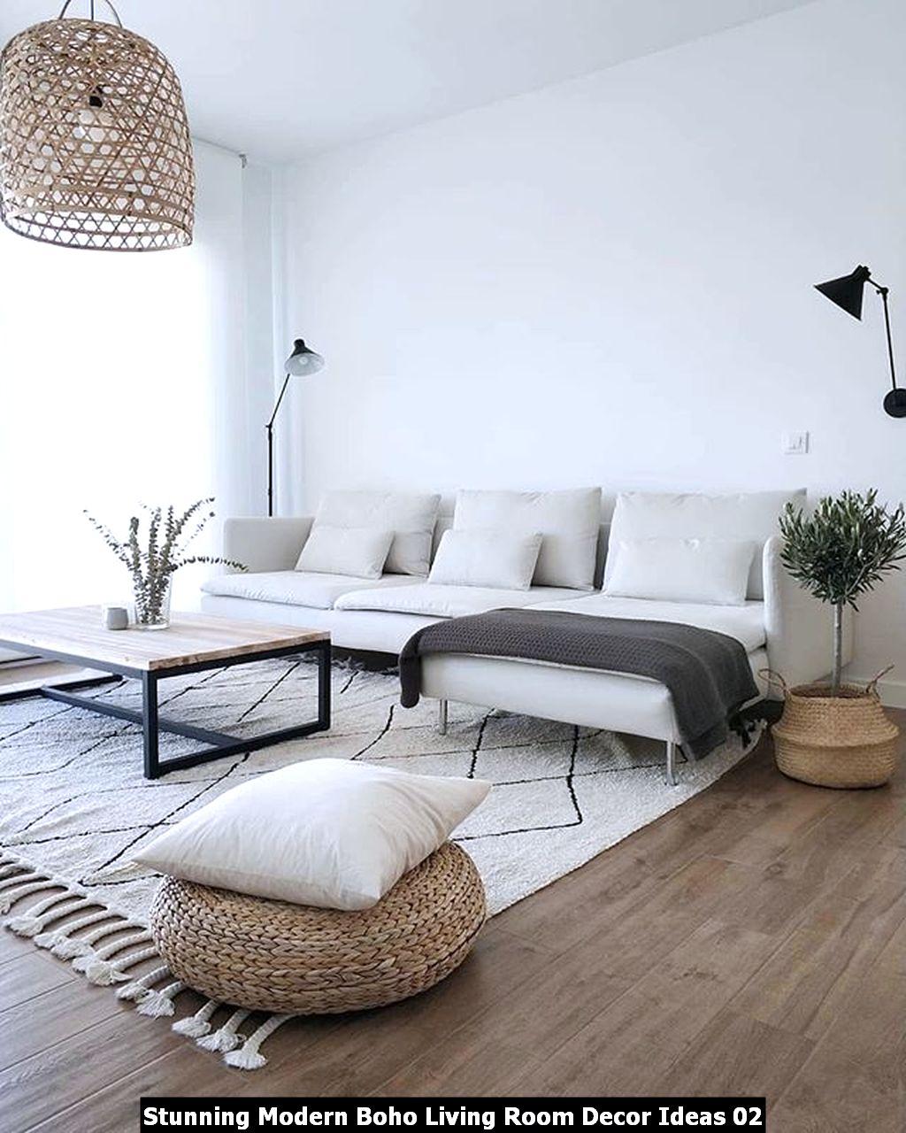 Stunning Modern Boho Living Room Decor Ideas 02
