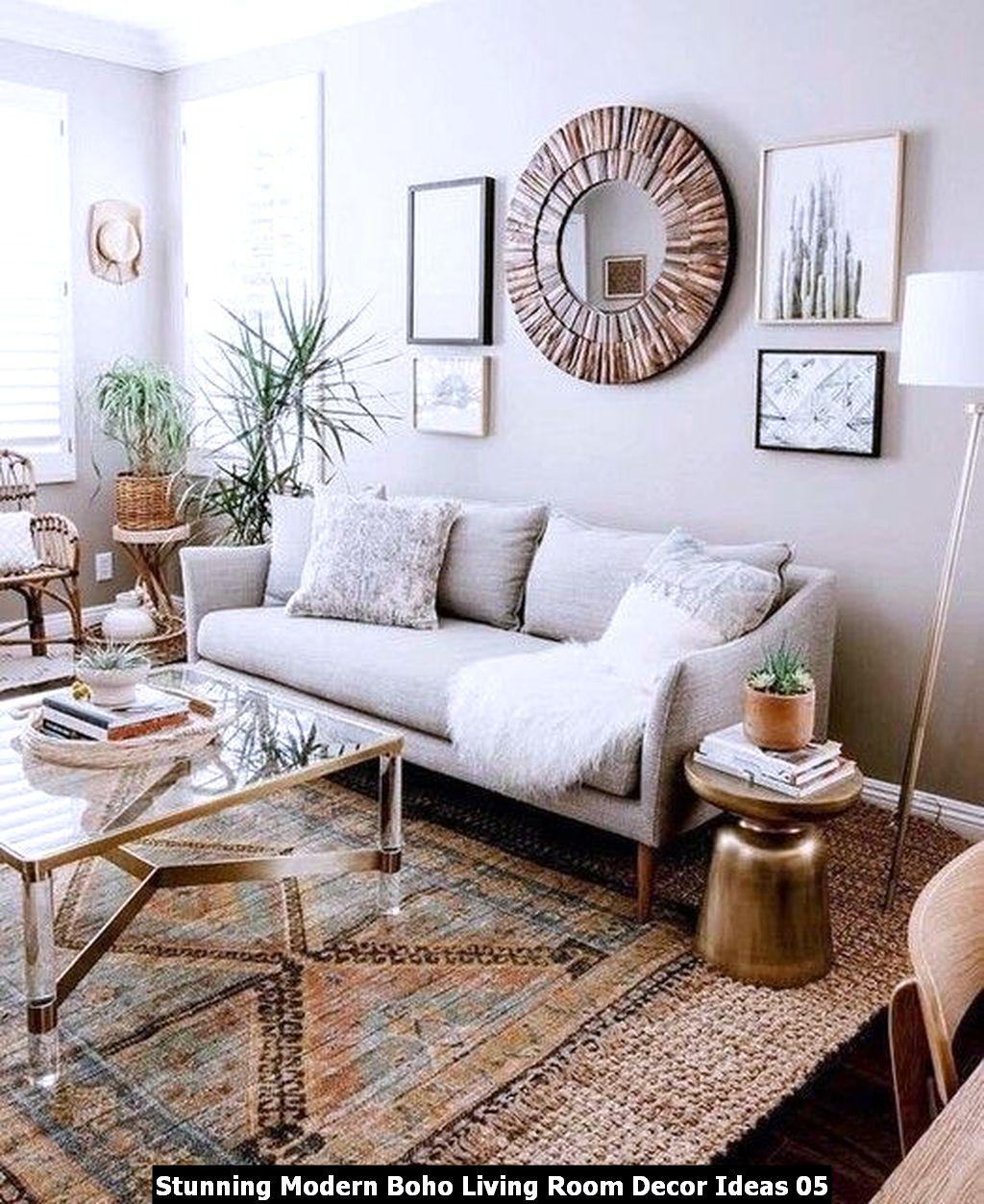 Stunning Modern Boho Living Room Decor Ideas 05