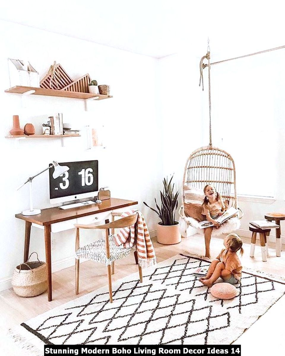 Stunning Modern Boho Living Room Decor Ideas 14
