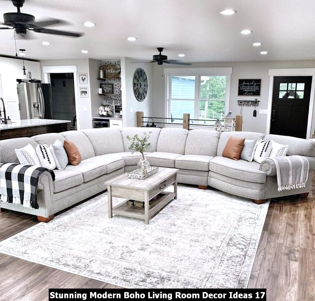Stunning Modern Boho Living Room Decor Ideas 17