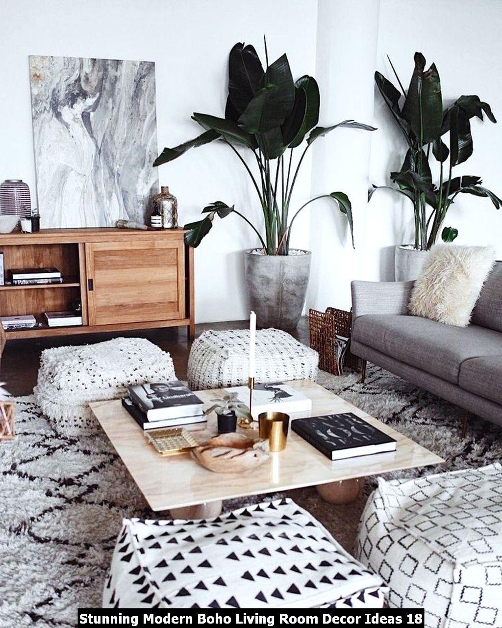 Stunning Modern Boho Living Room Decor Ideas 18