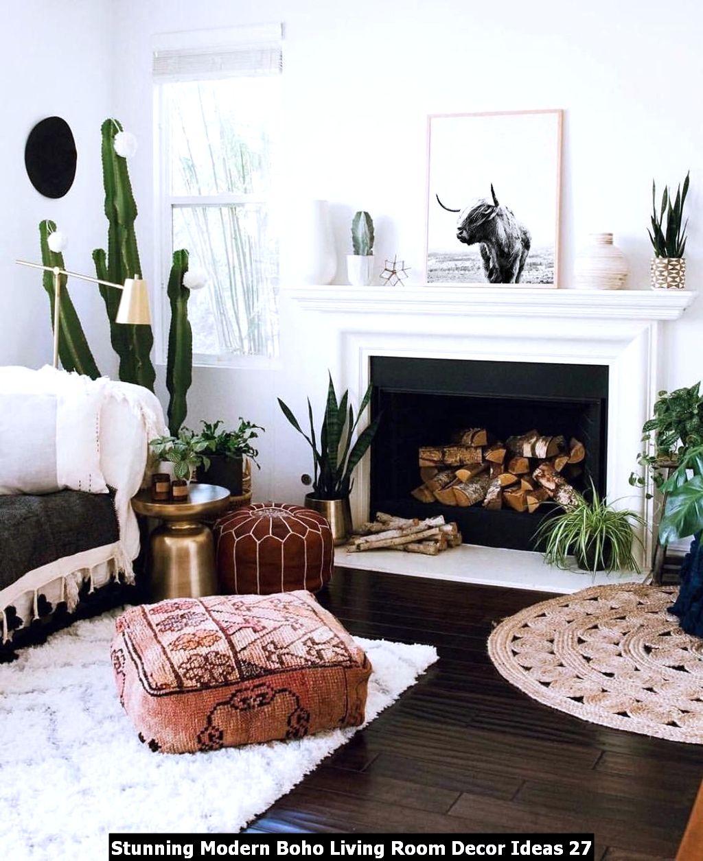 Stunning Modern Boho Living Room Decor Ideas 27