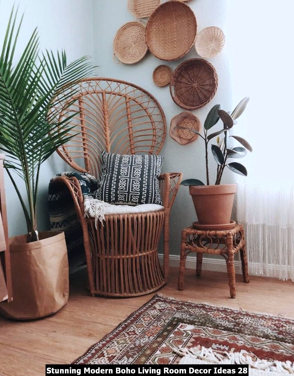 Stunning Modern Boho Living Room Decor Ideas 28