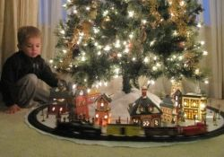 Train Under Christmas Tree