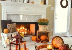 Living Room Fall Decor Ideas