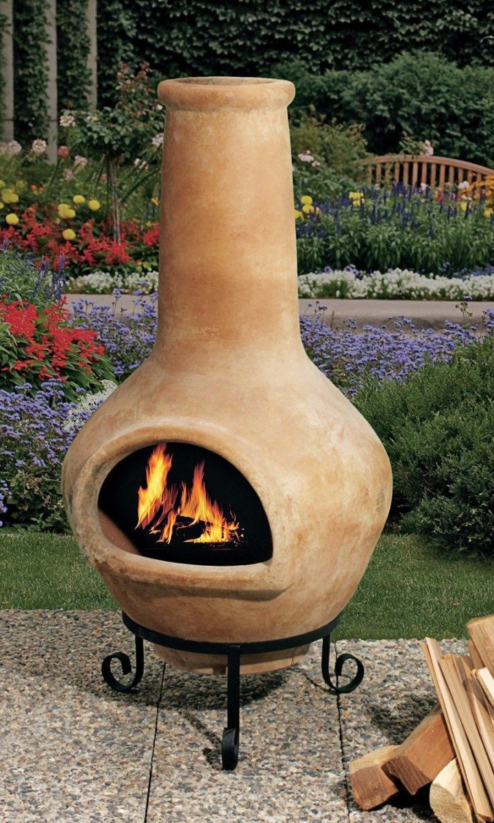 Chiminea Clay Outdoor Fireplace