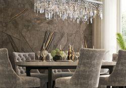 Crystal Chandelier Dining Room