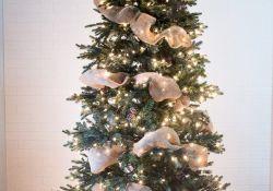 Putting Ribbon On Christmas Tree