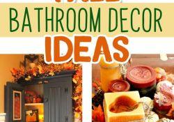 Fall Bathroom Decor