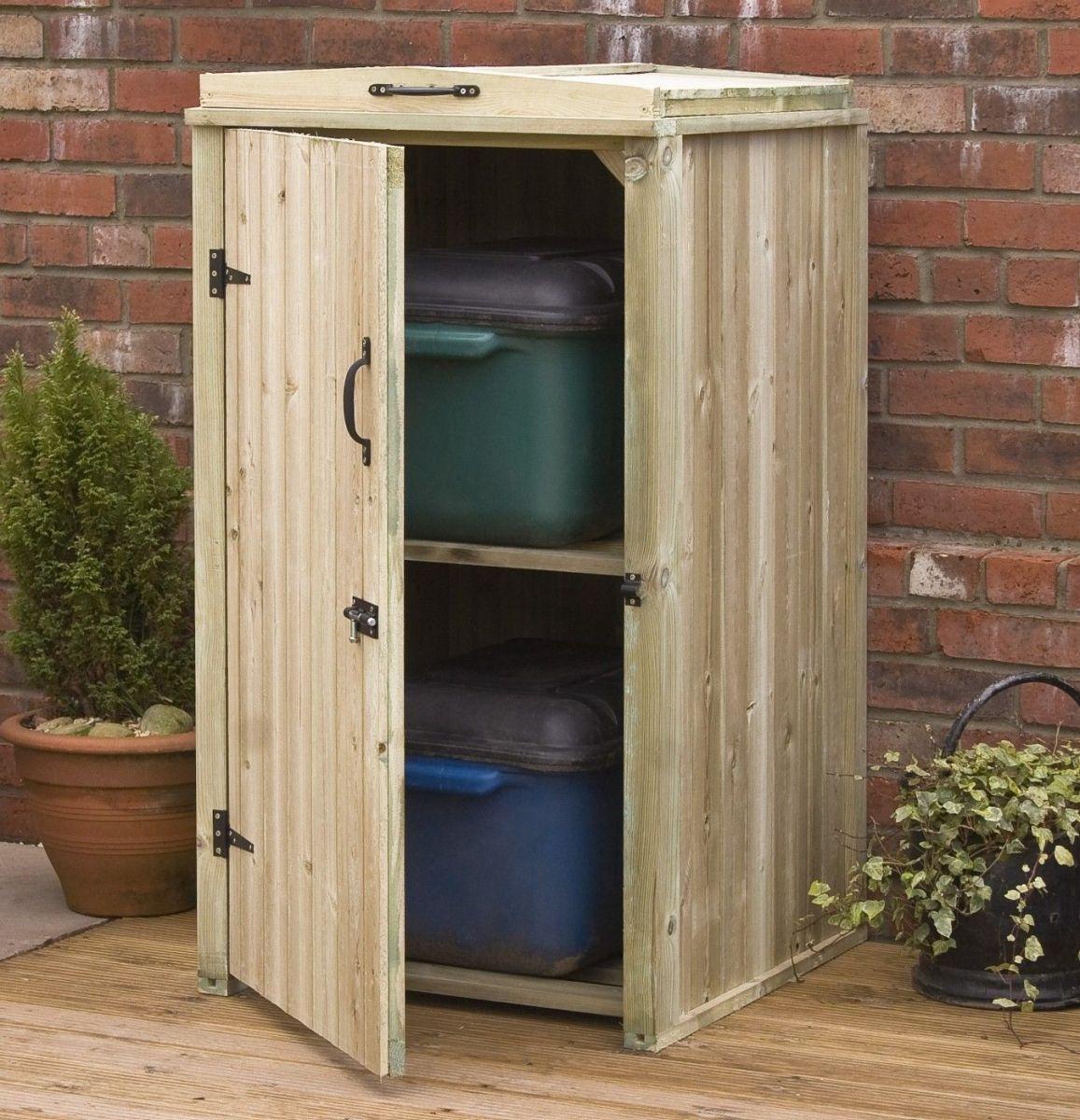 Wood Outdoor Storage Cabinet
