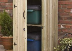 Wood Outdoor Storage Cabinet