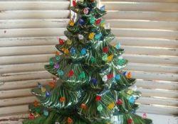 Vintage 1970s Ceramic Christmas Tree