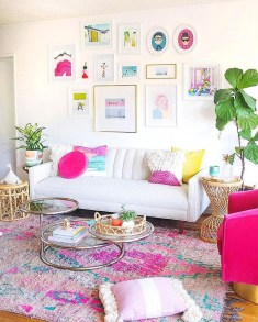 Affordable Living Room Summer Decorating Ideas 37