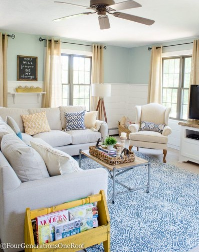 Affordable Living Room Summer Decorating Ideas 51