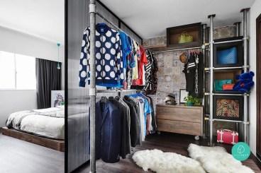 Classy Design Ideas An Organised Open Wardrobe 09
