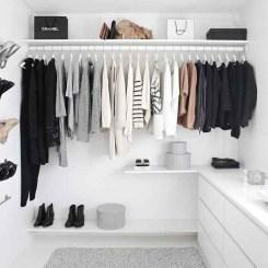 Classy Design Ideas An Organised Open Wardrobe 11