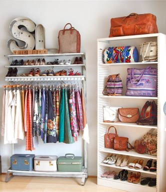 Classy Design Ideas An Organised Open Wardrobe 49