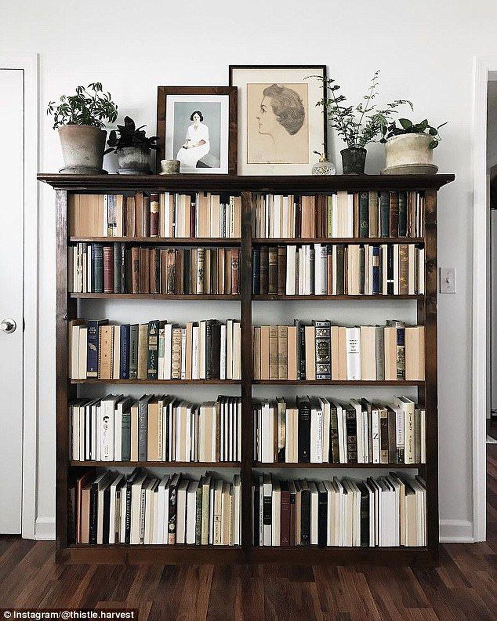 Elegant Bookshelves Decor Ideas That Trending Today 04