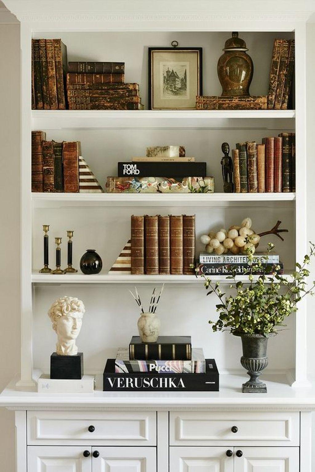 Elegant Bookshelves Decor Ideas That Trending Today 23