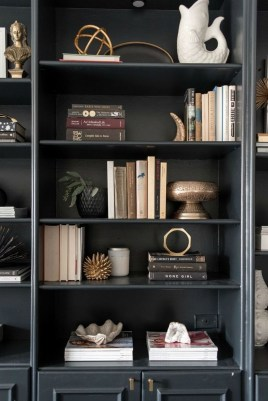 Elegant Bookshelves Decor Ideas That Trending Today 36