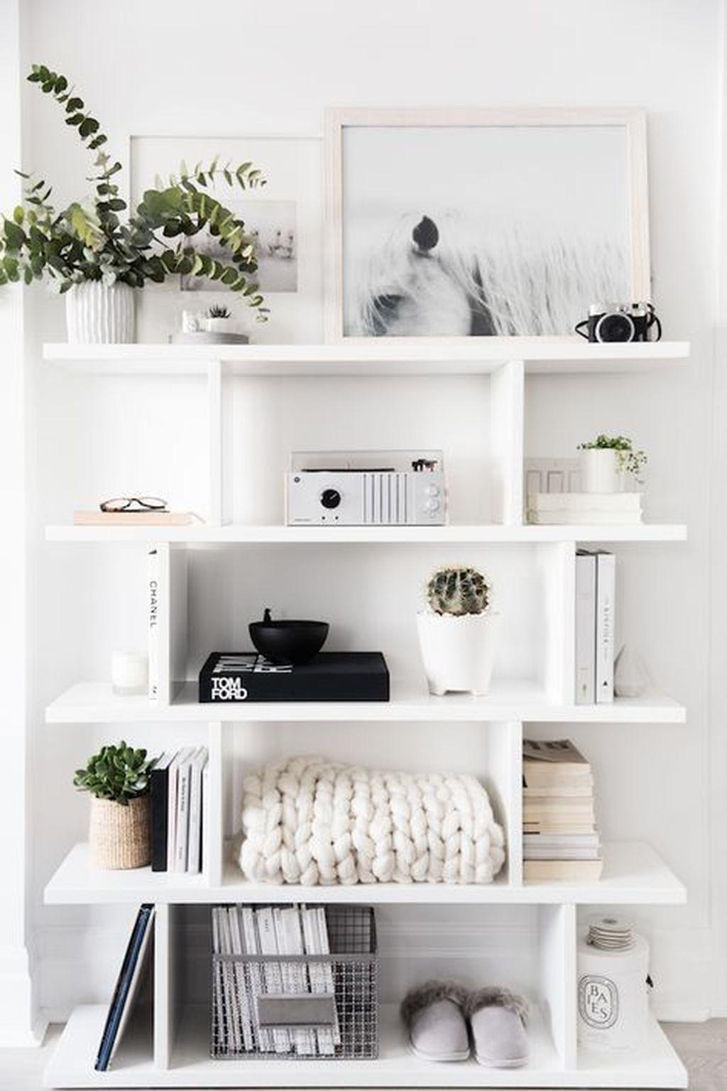 Elegant Bookshelves Decor Ideas That Trending Today 45