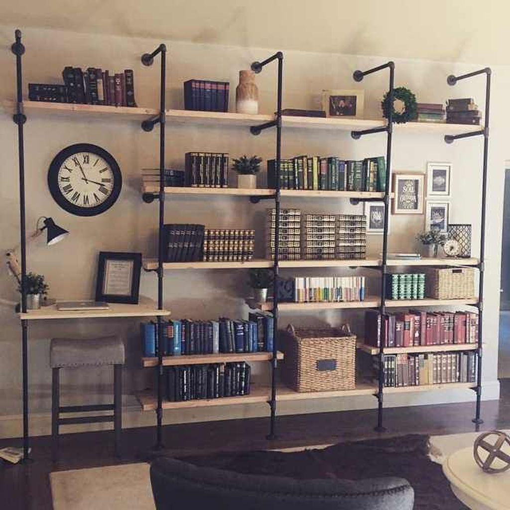 Elegant Bookshelves Decor Ideas That Trending Today 50