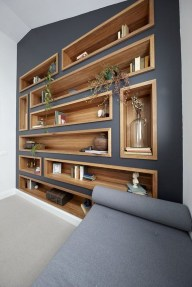 Elegant Bookshelves Decor Ideas That Trending Today 52