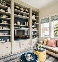 Pretty Bookshelves Design Ideas For Your Family Room 10