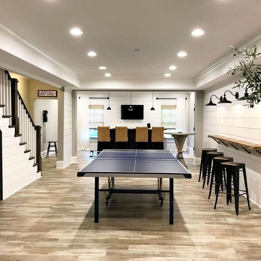 Adorable Basement Remodel Ideas For Upgrading Your Room Design 33