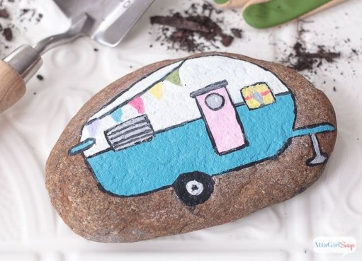 Affordable Diy Painted Rock Ideas For Home Decoration 07