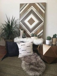 Affordable Geometric Wood Wall Art Design Ideas For Your Inspiration 10