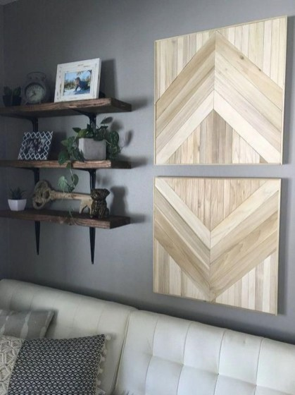 Affordable Geometric Wood Wall Art Design Ideas For Your Inspiration 21