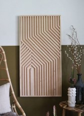 Affordable Geometric Wood Wall Art Design Ideas For Your Inspiration 34