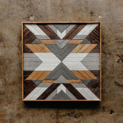 Affordable Geometric Wood Wall Art Design Ideas For Your Inspiration 36