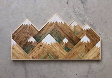Affordable Geometric Wood Wall Art Design Ideas For Your Inspiration 38