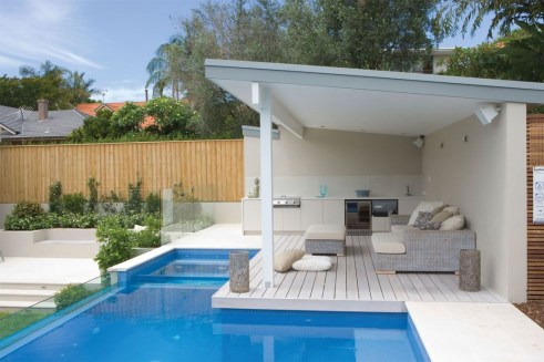 Awesome Backyard Patio Ideas With Beautiful Pool 01