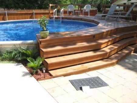 Awesome Backyard Patio Ideas With Beautiful Pool 05