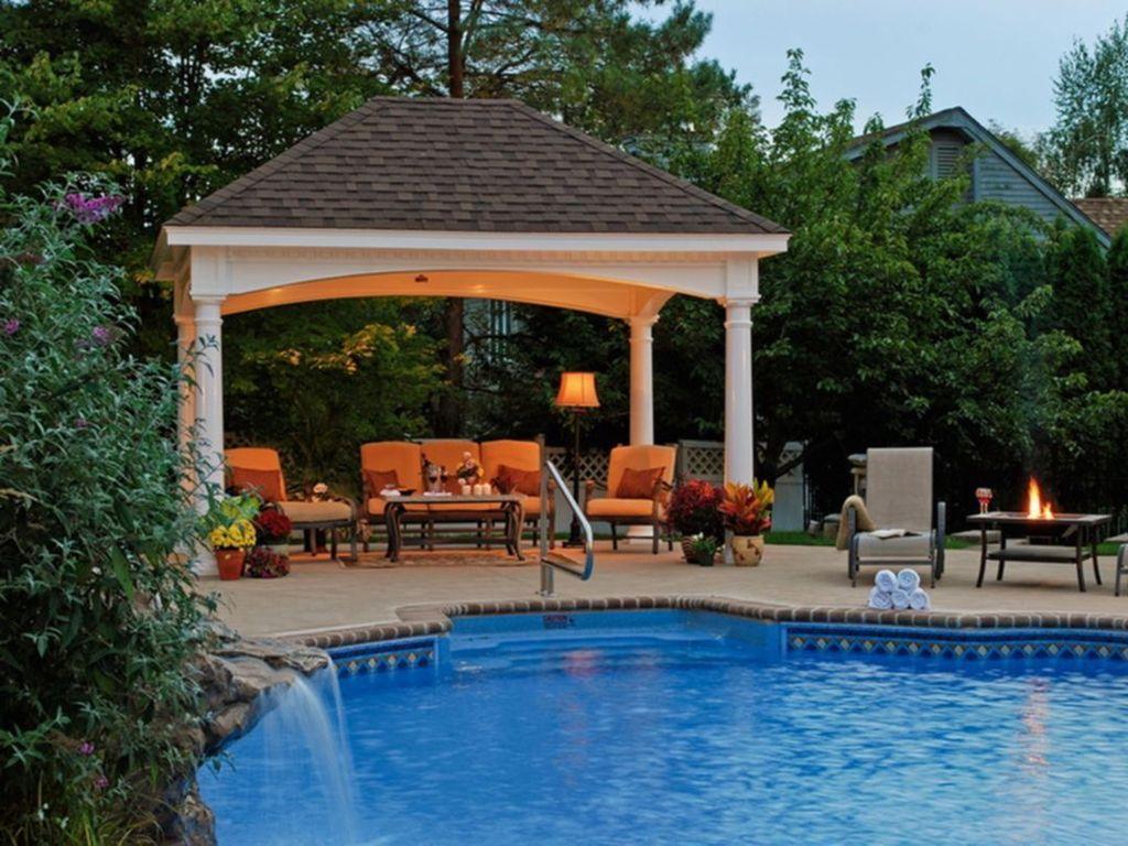 Awesome Backyard Patio Ideas With Beautiful Pool 07