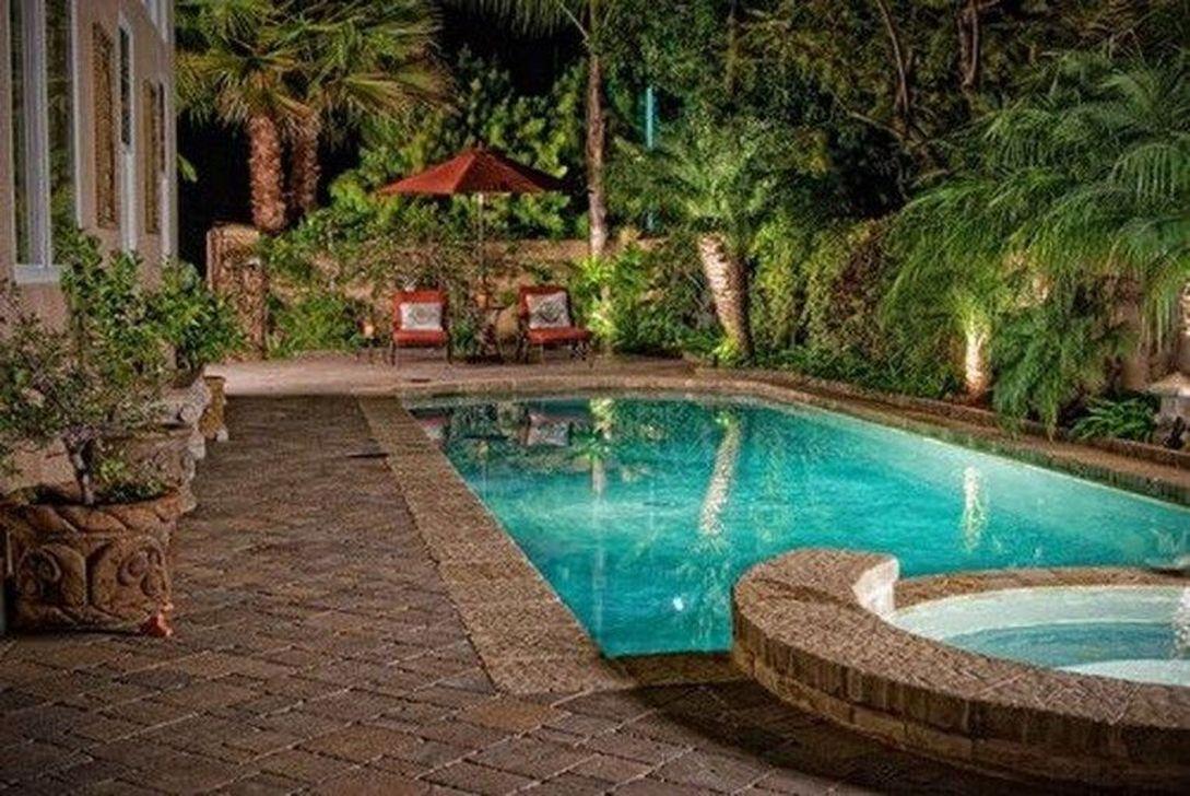 Awesome Backyard Patio Ideas With Beautiful Pool 15