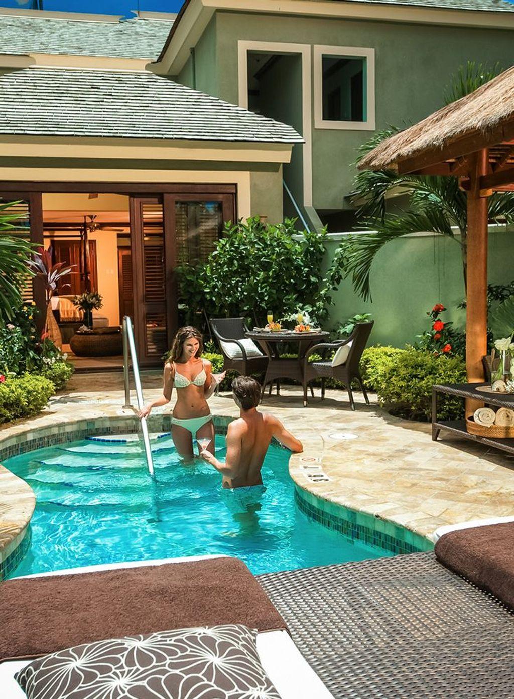 Awesome Backyard Patio Ideas With Beautiful Pool 24