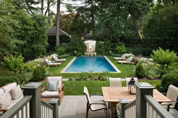 Awesome Backyard Patio Ideas With Beautiful Pool 28