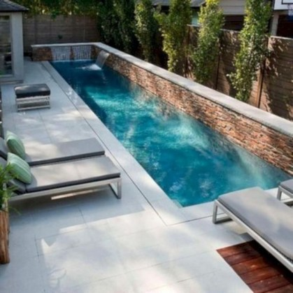 Awesome Backyard Patio Ideas With Beautiful Pool 45