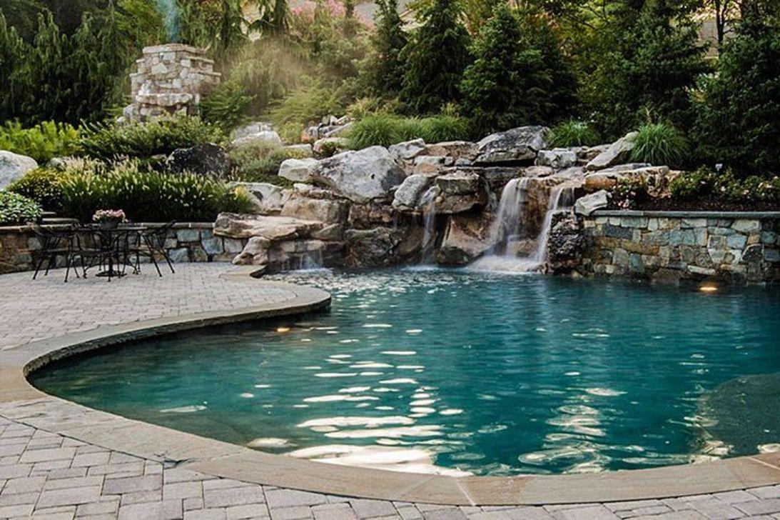 Awesome Backyard Patio Ideas With Beautiful Pool 46