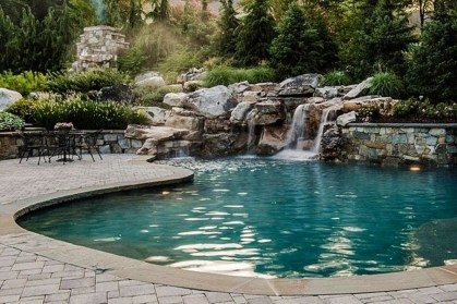 Awesome Backyard Patio Ideas With Beautiful Pool 46