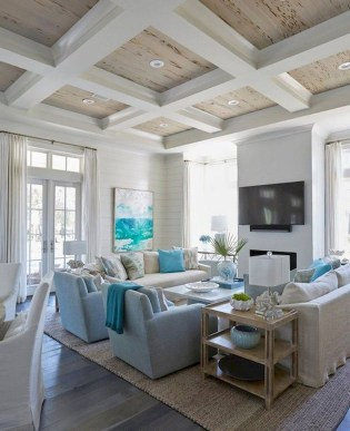 Best Coastal Living Room Decorating Ideas 06