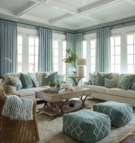 Best Coastal Living Room Decorating Ideas 38