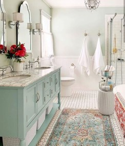 Inspiring Bathroom Decor Ideas With Turquoise Color To Consider 30