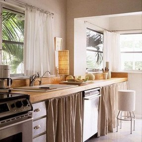 Magnificient Kitchen Cabinet Curtain Ideas To Look Stunning 05