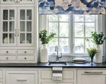 Magnificient Kitchen Cabinet Curtain Ideas To Look Stunning 12