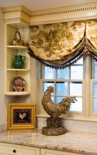 Magnificient Kitchen Cabinet Curtain Ideas To Look Stunning 15